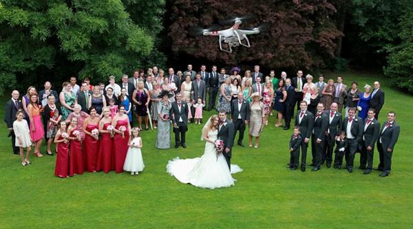 filmare drona nunta