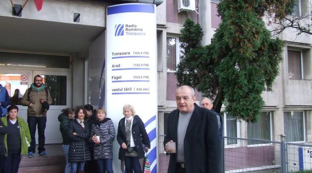 Angajații Radio Timișoara au protestat împotriva deciziei de scoatere a taxei radio