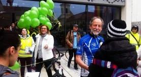 Europarlamentarii Michael Cramer şi Maria Grapini la Turul pe bicicletă al Timişoarei